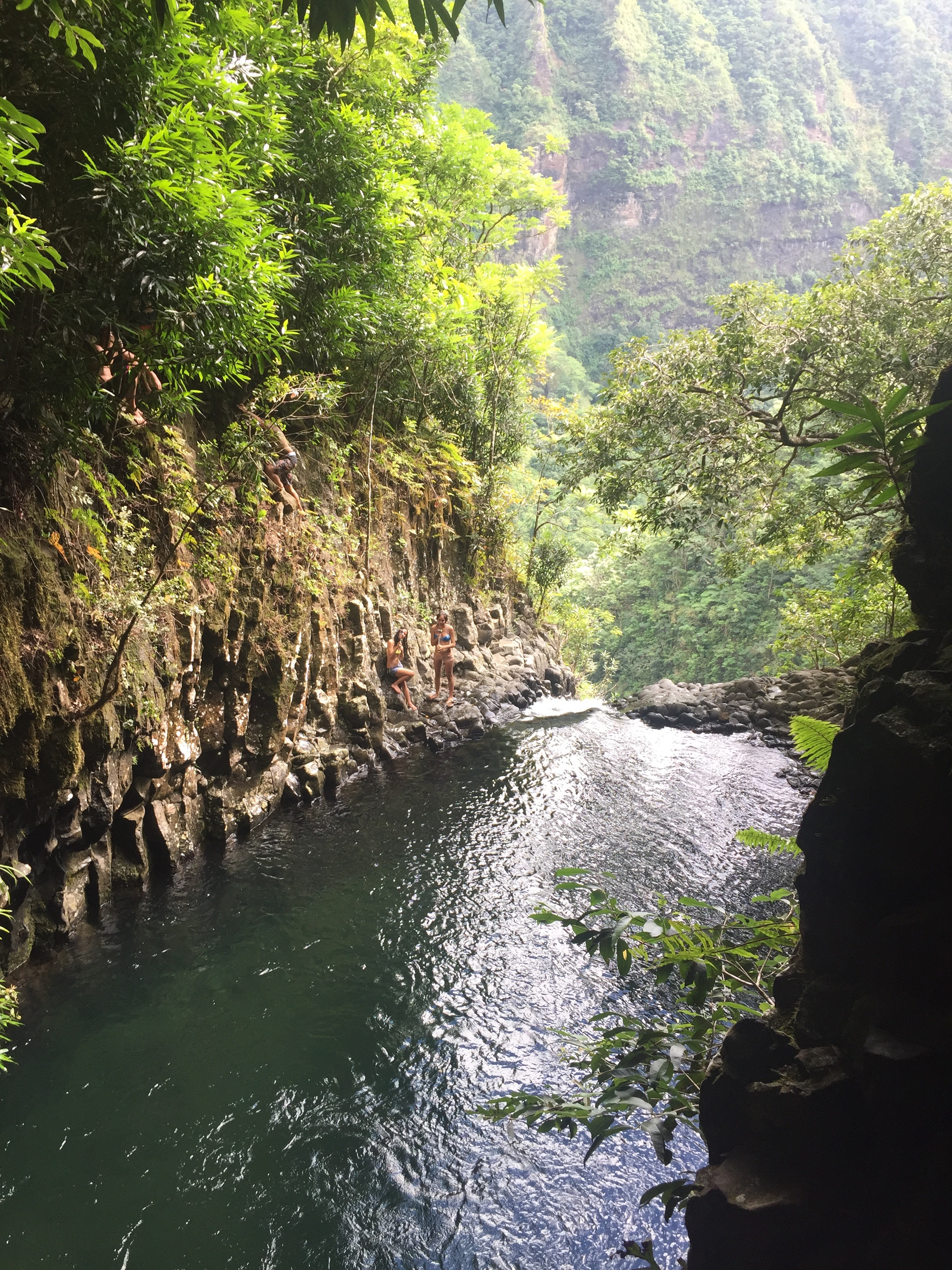 Cliff Jumping and Natural Water Slides Inside Fautau'a Valley